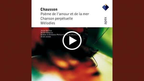 Poème De Lamour Et De La Mer Op19 Iii La Mort De Lamour